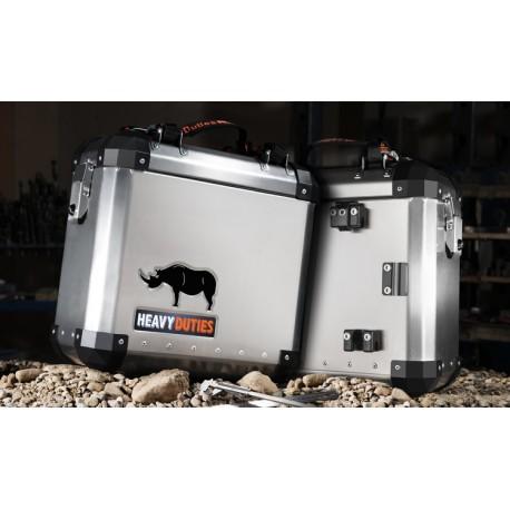 Een set van 2 x 39 liter aluminium koffers (links & rechts)